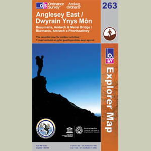 Explorer Map 263 Anglesey East 1:25000