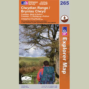 Explorer Map 265 Clwydian Range, Prestatyn, Mold & Ruthin 1:25000