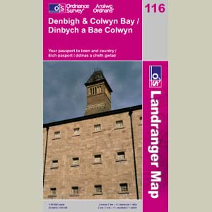 LANDRANGER MAP 116 DENBIGH & COLWYN BAY 1:50000