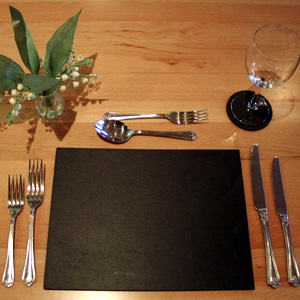 "Set of 6 Slate Placemats (12"" x 9"")"