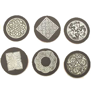 Set of 6 Celtic Coasters
