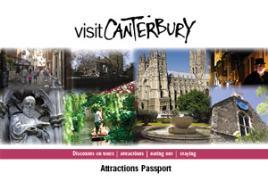 Canterbury Attractions Passport, front cover