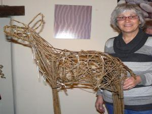 Willow Sculptures, Deer For The Garden
