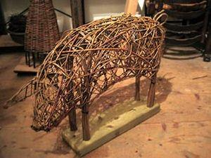 Willow Weaving - Life-Size Pigs