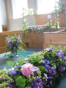 Wedding flowers in the courtroom