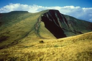Beacons Way -   Pen y fan from Cribyn