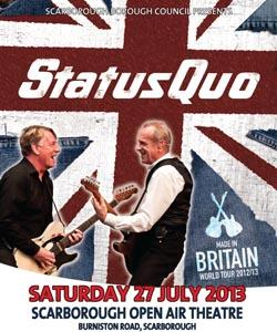 Status Quo Live at Scarborough Open Air Theatre