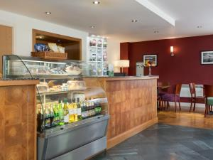 Bright, clean and modern reception area at the Lodge in the Vale