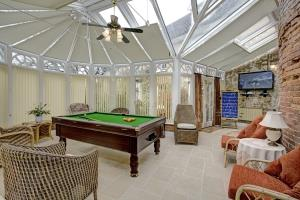 The games conservatory with new pool table