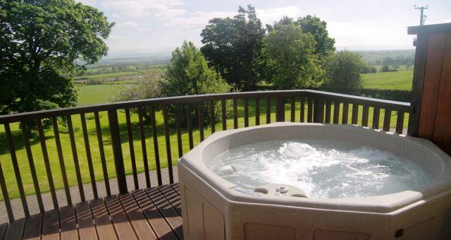 Cloven Stone balcony hot tub