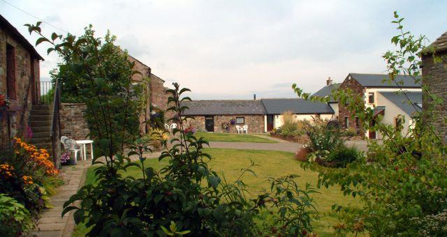 Monkhouse Hill Cottages courtyard