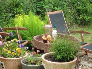 Garden patio in Springtime